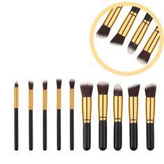 15 Color Women Beauty Professional Contour Face Makeup Concealer Palette with 2 Sponge Puff and 10PCS Eyeshadow Brushes Set -- BuyinCoins.com