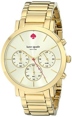 #love #instalike Watches (Women's Watches): #kate spade watches Gramercy Grand Chronograph Watch (Gold)