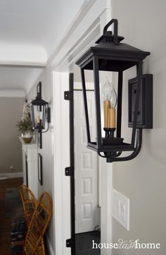 Restoration Hardware Knockoff. Using Outdoor Lights For Indoor Sconces.  House Dash Home Blog: