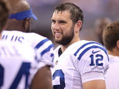 807b040a7 Indianapolis Colts Andrew Luck on the bench in the second half of their  preseason Saturday
