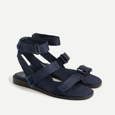 Shop J.Crew for the Gretchen sandal for Women. Find the best selection of Women Clothing available in-stores and online. J Crew Outfits, Parisian Chic Style, Live In Style, J Crew Style, Crew Clothing, Minimalist Wardrobe, Cute Shoes, Style Guides, Leather Sandals