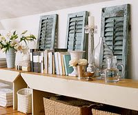 Small shutters on my mantle... Love it