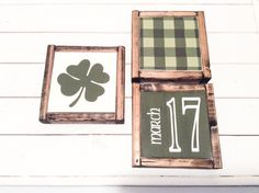 St Patricks Day Signs Four Leaf Clover Sign March 17 Sign St Pattys Day Decor Irish Signs Luck of the Irish Decor Farmhouse Style Sign DIY Wood Signs Clover Day Decor Farmhouse Irish leaf Luck March Patricks Pattys Sign Signs Style Saint Patrick's Day, Farmhouse Wall Decor, Farmhouse Style, Rustic Farmhouse, St. Patricks Day, Irish Decor, St Patrick's Day Decorations, Activities For Adults, Luck Of The Irish