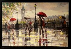ARTFINDER: 'London' by Ewa Czarniecka - This picture was publish in 'May' Fine Art Print Publishers, Supplement I in 2013. Original are made with an impasto technique, applying thick layers of oil...