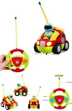 RC Toy Car Electric Radio Control Baby Toddler Kids Cartoon Race Lightning Music #HolyStone