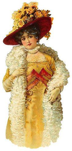 Vintage Lady Scrap