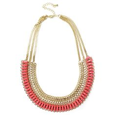 Coral Gold Wrap Necklace, $16 | Fashion | Light Years Jewelry