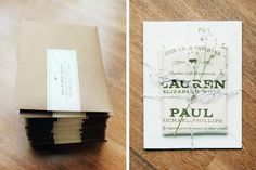 Rustic Fabric Barn Wedding Invitations Jessi Evans4 Lauren + Pauls Rustic Screen Printed Fabric Wedding Invitations