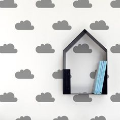 Easy way to change the decoration in a kids room. 20 cloud wall sticker easy to apply and removable. Do not leave marks on the wall. Room Inspiration, Interior Inspiration, Baby Stickers, Grey Clouds, Sheet Sizes, Dry Hands, Friend Wedding, Vinyl, Dark Grey