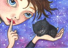 "ACEO (2.5""x 3.5"") ~FAMILIAR FATIGUE~ Water soluble colored pencil and gouache on Stonehenge paper. (sold)"