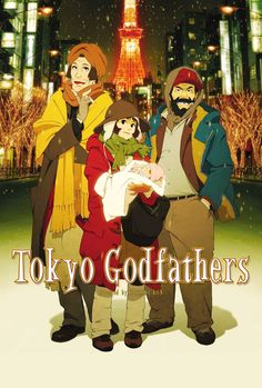 """Tokyo Godfathers"" (東京ゴッドファーザーズ Tōkyō Goddofāzāzu) is a 2003 anime film directed by the late Japanese director Satoshi Kon, and co-directed by Shōgo Furuya. Ghibli, Top Movies, Movies To Watch, Film Watch, Movies 2019, Tokyo Godfathers, Film Animation Japonais, Satoshi Kon, Godfather Movie"