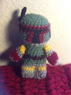 Boba Fett Star Wars Mini Amigurumi by KnitCrochetbyAdwoa on Etsy, $20.00