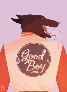 """查看此 @Behance 项目:""""Good Boy""""https://www.behance.net/gallery/45030065/Good-Boy"""