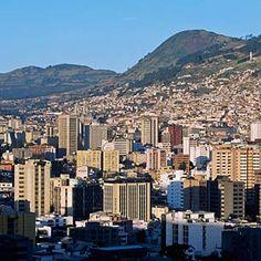 Quito Ecuador, with Mt Pichincha