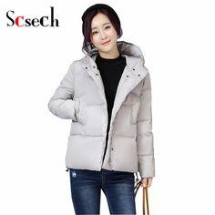 New Snow wear Parkas jacket female  winter jacket women slim short down jacket outerwear winter coat women WWF07 #Affiliate