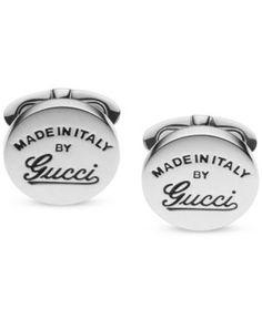 Gucci Men's Sterling Silver Gucci Craft Cufflinks YBE34127700100U - Silver