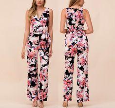 NEW YUMI KIM  M  Floral Romper Long Draped Wrap Jumpsuit Belted Maxi Medium 8 10