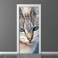 Fototapeta na drzwi Wally Photograph, Doors, Interior Design, Decoration, Wallpaper, Cats, Animals, Inspiration, Home Decor