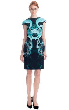 Haryono Setiadi Cyan Illusion Dress