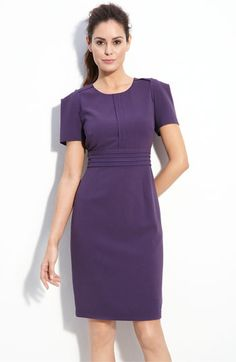 Adrianna Papell Seamed Crepe Sheath Dress