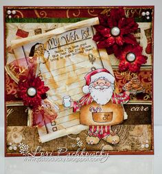 Santa's Midnight Snack [C1019] - $8.00 : Whimsy Stamps