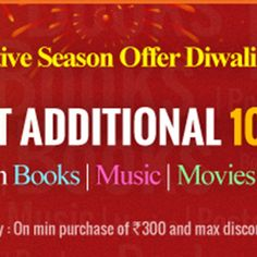 Infibeam Introduces special Diwali Offer: Get Additional 10% Off on all Media Products