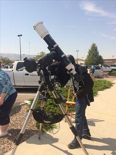 Eclipse through a bad ass lense, 2017, Walmart parking lot, Casper Wyoming