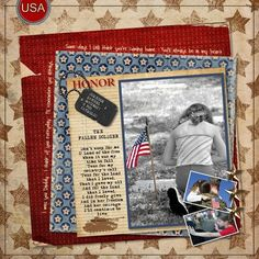 Military Scrapbook Layout