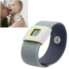 [USD21.77] [EUR20.19] [GBP15.61] Wearable Health Monitor Wristband Bluetooth Smart Thermometer for Babies Children(Yellow)