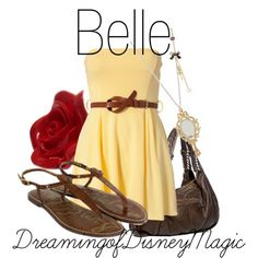 Princess belle inspired outfit.
