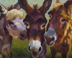 """The Mutual Admiration Society"" by Sarah J. Webber Fine Art Acrylic ~ 24 x 30"""