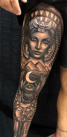 There are different types of tattoos that you can opt for and one of them is the Egyptian tattoo. These tattoos are made with from different symbols and they take a different meaning altogether. Here is a look at the Egyptian tattoos. Hand Tattoos, Tattoos Bein, Full Leg Tattoos, Best Sleeve Tattoos, Forearm Tattoo Men, Body Art Tattoos, Mens Leg Tattoo, Script Tattoos, Male Tattoo