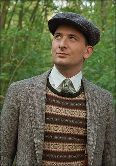 Now that's one dapper 30s style fair isle look!