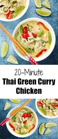 This very fragrant Thai Green Curry Chicken can be done under 20 minutes, making it a quick fix for a comforting weeknight meal!