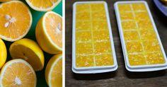 Creare cubetti di ghiaccio con i limoni
