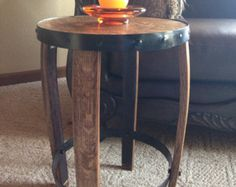 barrel head and stave end table elegant wine barrel side table jeremy pinterest wine barrel table barrel table and barrels