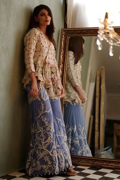 52c71ef1cb8 Rust gold embellished dress by Eden Robe eid collection