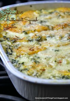 Spinach and Butternut Squash Gratin to Go!