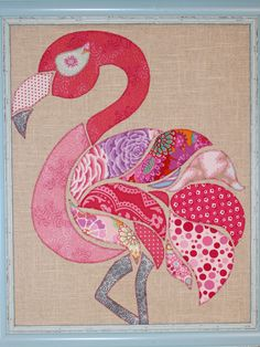 flamingo applique pattern - Google Search