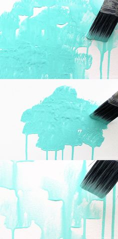 How to create a watercolor effect with paint on wood panels or simply create the texture directly on the walls of your home | LiveColorful.com