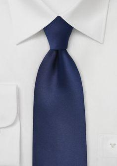 Krawatte unifarben navyblau