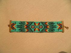 Bracelet tissé perles style indien navajo by LaPotionMagique