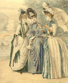 Fashion Plate - The Queen, the Ladies' Newspaper, dated 1861  must be wrong date, rather 1880's