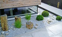 A front yard shows contours> Baumann - Gardens and open spaces