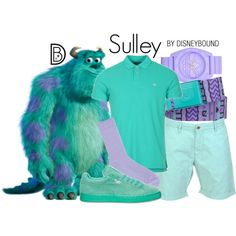 You won't look scary at all in this Sulley from Monsters Inc. outfit   fashion   outfits   disneyland outfits   disney world outfits   disney fashion outfits   disneybound   disneybound outfits   disney outfits   disney outfit ideas  