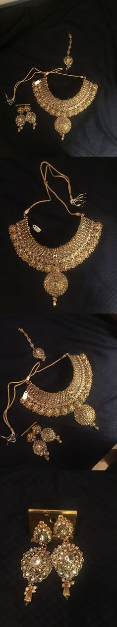 Other Asian E Indian Jewelry 11313: Indian Bridal Jewelry Set -> BUY IT NOW ONLY: $265.0 on eBay!