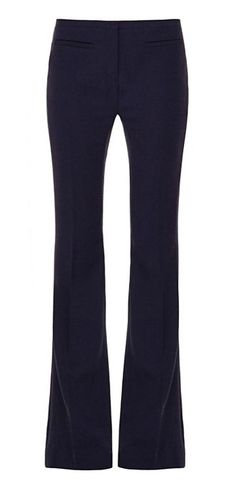 Every wardrobe needs a versatile trouser that can anchor an array of looks. From the slim shape to the polished details, our Wool Crepe Twill Flare Pant meets the mark | Tory Burch Fall 2015