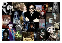 """Tim Burton Computer Wallpaper"" by the-puppeteer-patient-120402 ❤ liked on Polyvore featuring art"