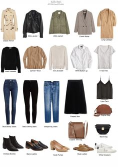My Fall Capsule Wardrobe 2019 ~ Lilly Style - - I've been sitting on this for a month and finally decided to finish it up and share. You might have already seen these pieces months ago in my Style Staples Shop but also most of…. Capsule Outfits, Fashion Capsule, Fall Outfits, Preppy Winter Outfits, Casual Work Outfits, Business Casual Outfits, Short Outfits, Jean Outfits, French Capsule Wardrobe
