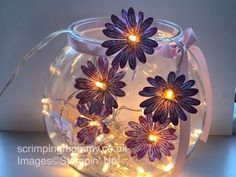 Daisy delight DIY fairy lights ..Stampin' Up! products - YouTube